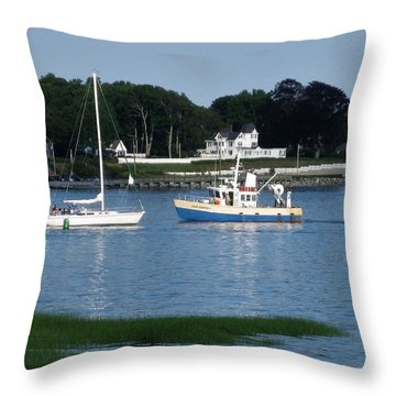 Milford Harbor  Throw Pillow
