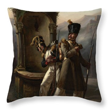 Military Event From Napoleon's First Spanish Campaign Throw Pillow