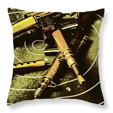 Military Green Pop Art  Throw Pillow