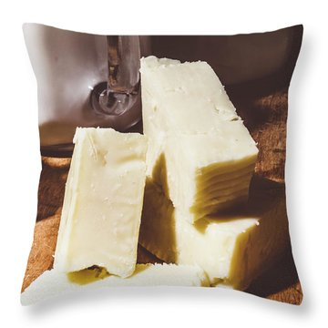 Milk And Cheese Throw Pillow