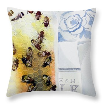 Milk And Honey Throw Pillow