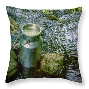 Milk Can - Wales Throw Pillow