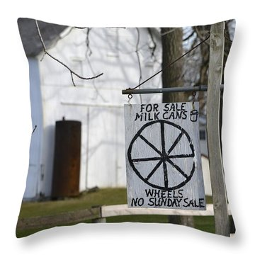 Milk Cans And Buggy Wheels Throw Pillow