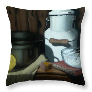 Milk Jug Meringue Throw Pillow