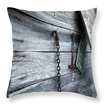 Milk Shed Throw Pillow