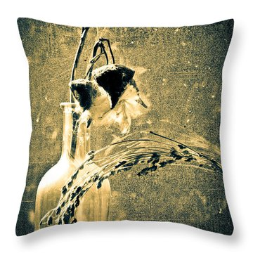 Milk Weed And Hay Throw Pillow