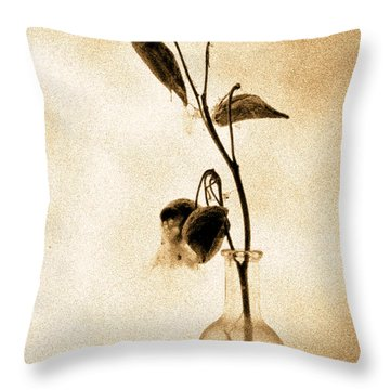 Milk Weed In A Bottle Throw Pillow