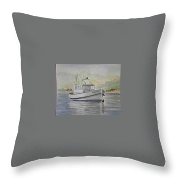 Milkshake Boat Throw Pillow