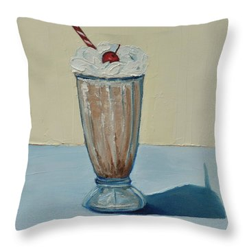 Milkshake Throw Pillow by Lindsay Frost