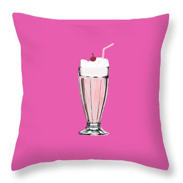 Milkshake Throw Pillow