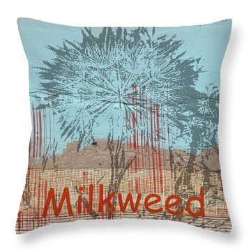 Throw Pillow featuring the photograph Milkweed Collage by Cynthia Powell