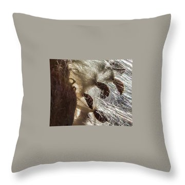 Milkweed Seed Burst Throw Pillow