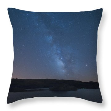 Throw Pillow featuring the photograph Milky Lagoon by Bruno Rosa