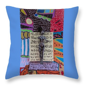 Throw Pillow featuring the painting Milky Oat Herbal Tincture by Clarity Artists