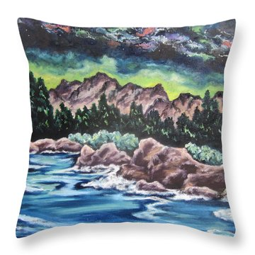 Throw Pillow featuring the painting Milky Way 2 by Cheryl Pettigrew