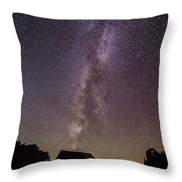 Milky Way And Barn Throw Pillow