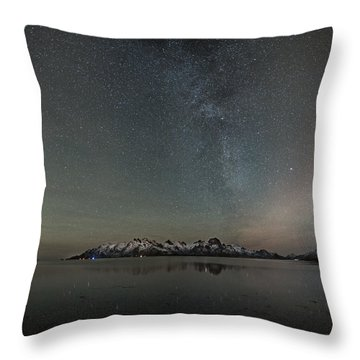 Milky Way And Northern Lights I Throw Pillow