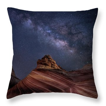 Milky Way And The Wave Throw Pillow