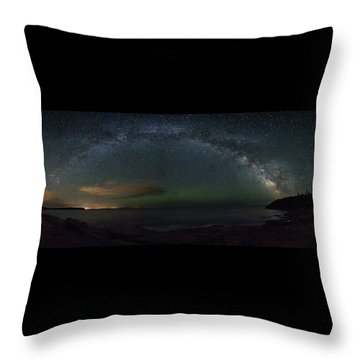 Milky Way Arch Throw Pillow