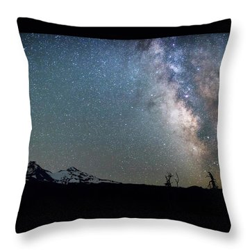 Throw Pillow featuring the photograph Milky Way At Mckenzie Pass by Cat Connor