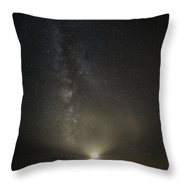 Milky Way At Pemaquid Light Throw Pillow