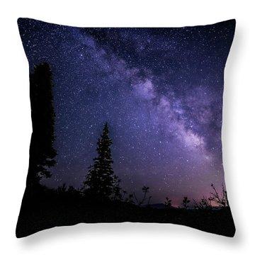 Milky Way At Powder Mountain Throw Pillow
