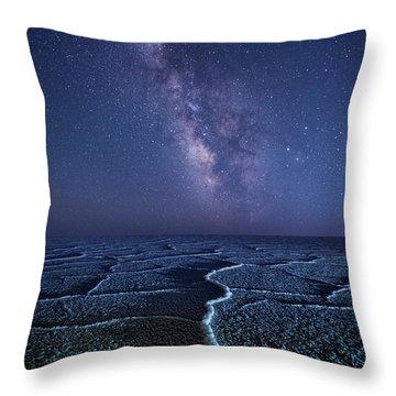 Milky Way At The Salt Flats Throw Pillow