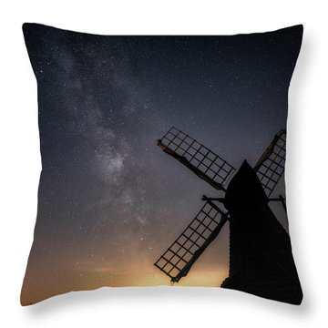 Milky Way At Wicken Throw Pillow