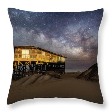 Milky Way Beach House Throw Pillow