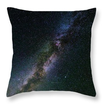 Throw Pillow featuring the photograph Milky Way Core by Bryan Carter