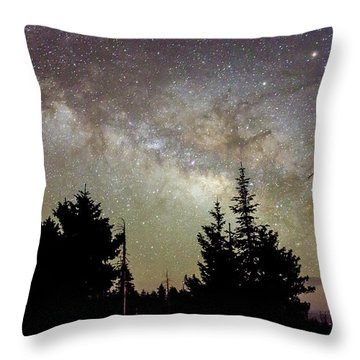 Milky Way From Mt. Graham Throw Pillow
