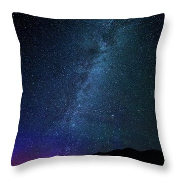 Milky Way Galaxy After Sunset Throw Pillow by Dan Pearce