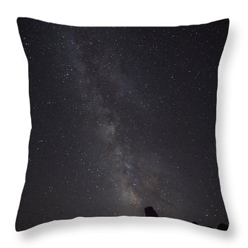 Milky Way Galaxy At Arches National Park Throw Pillow