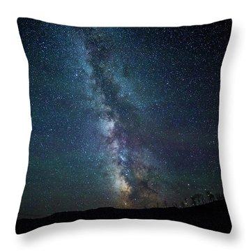 Milky Way Galaxy Throw Pillow by Dan Pearce