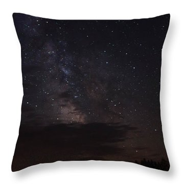 Milky Way Throw Pillow by Gary Wightman