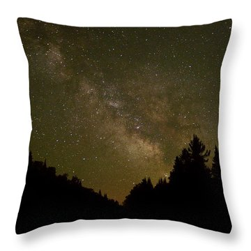 Milky Way In The Whites Throw Pillow