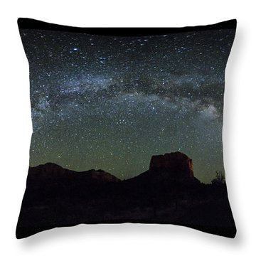Milky Way Over Bell Throw Pillow