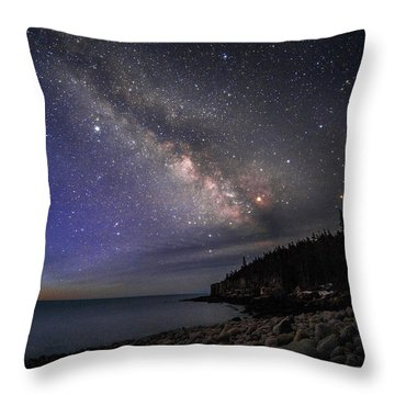 Milky Way Over Boulder Beach Throw Pillow