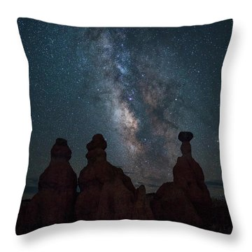 Milky Way Over Bryce Canyon Throw Pillow