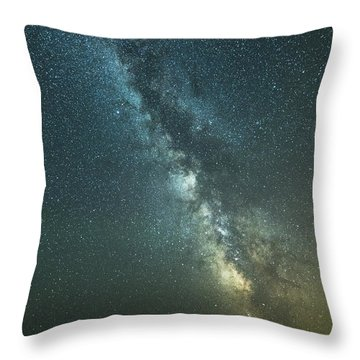 Milky Way Over Clams Flats Throw Pillow