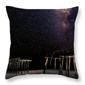 Milky Way Over Frisco Throw Pillow