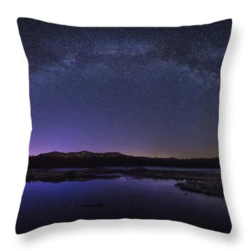 Milky Way Over Lonesome Lake Throw Pillow