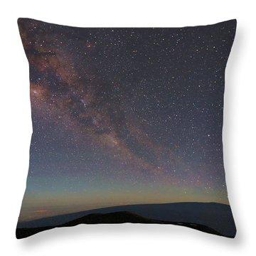 Milky Way Over Mauna Loa Throw Pillow