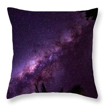 Milky Way Over Mission Beach Throw Pillow