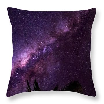 Milky Way Over Mission Beach Narrow Throw Pillow