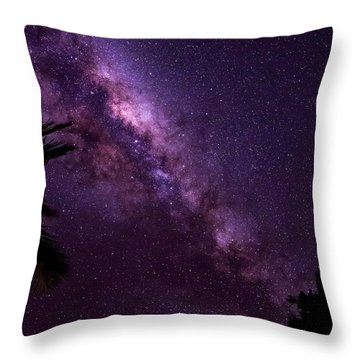 Throw Pillow featuring the photograph Milky Way Over Mission Beach Vertical by Avian Resources