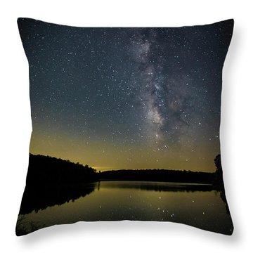 Milky Way Over Price Lake Throw Pillow