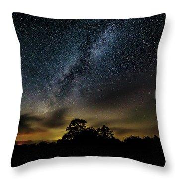Milky Way Over The Blue Ridge Throw Pillow