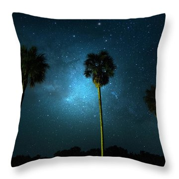 Milky Way Planet Throw Pillow by Mark Andrew Thomas