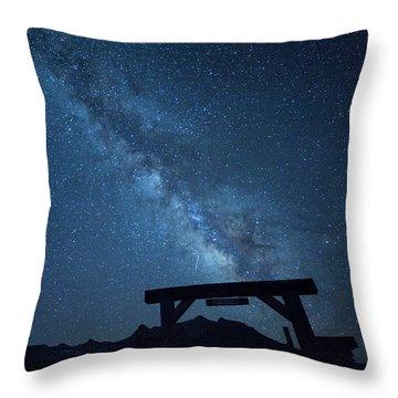 Milky Way Ranch Throw Pillow